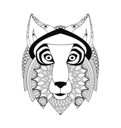 tribal wolf icon vector image