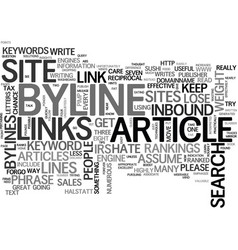 Why a byline should be effective text word cloud vector