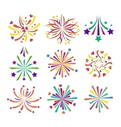 Fireworks icon isolated vector