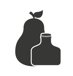 juice fruit bottle silhouette icon vector image