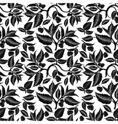 Seamless pattern with raspberry branches and vector