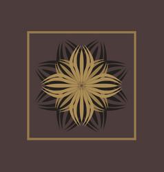 luxury logo design template vector image