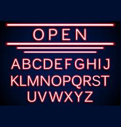 Set retro neon open signs background vector