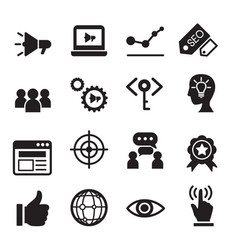 Internet marketing icon set vector