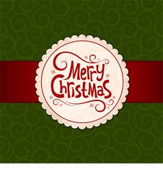 Xmas green background vector