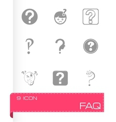 Faq icons set vector