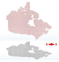Map of canada with with dot pattern vector