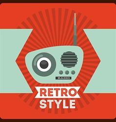 Retro style icon vector