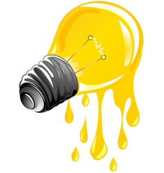 Dripping energy light vector