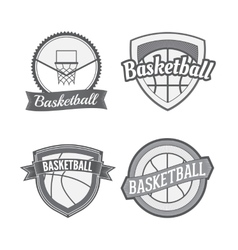 Set of basketball vintage labels vector