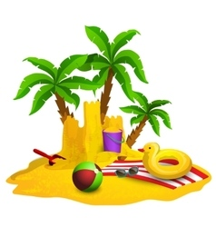 Beach rest background vector