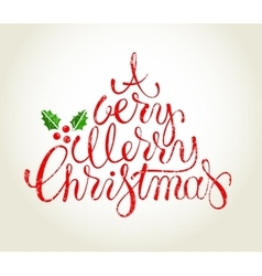 Hand drawn Cristmas card vector image