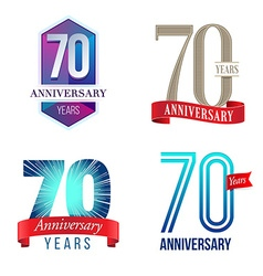 70 Years Anniversary Symbol vector image vector image