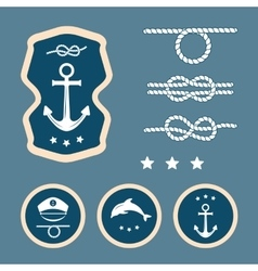 Nautical decoration set vector
