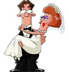 married vector image