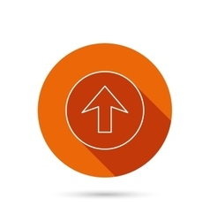 Upload icon top arrow sign vector