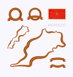 Colors of morocco vector