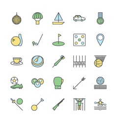 Sports bold icons 6 vector