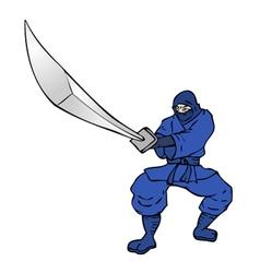 Blue ninja vector