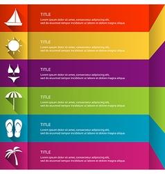 Modern flat infographic template vector