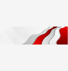 Abstract modern red wavy corporate banner design vector