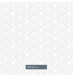 Amazing floral pattern on white background vector
