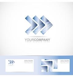Arrows forward advancing concept logo vector