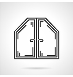 Attic window black line icon vector