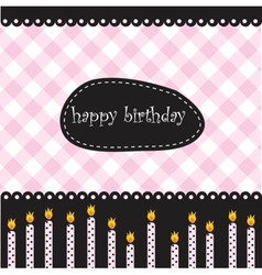 Birthday candles vector