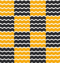 Black and orange wave background seamless pattern vector image vector image