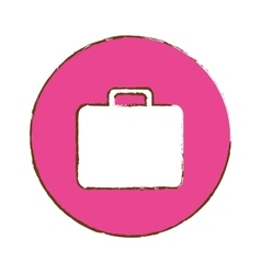 Briefcase button thumbnail business icon image vector