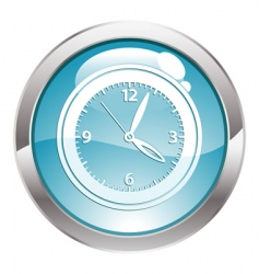button with clock vector image vector image
