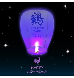Chinese lantern 2017 vector image