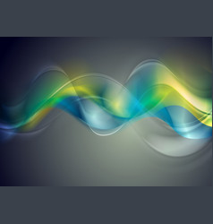 colorful glossy blurred waves background vector image
