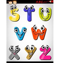 comic letters alphabet cartoon vector image