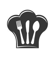 Cutlery icon Menu and kitchen design vector image vector image