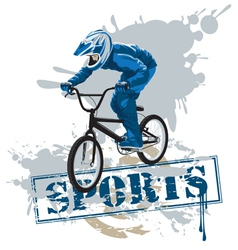 cycle racing vector image