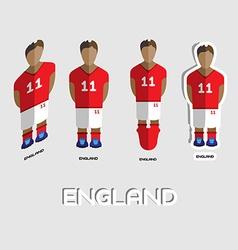 England soccer team sportswear template vector
