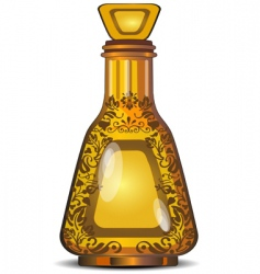figured bottle vector image