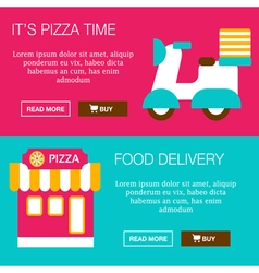 Food delivery banners vector