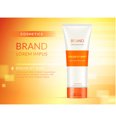 hand cream ads vector image vector image
