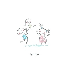 Happy family vector image