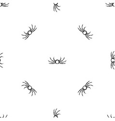 Japanese spider crab pattern seamless black vector