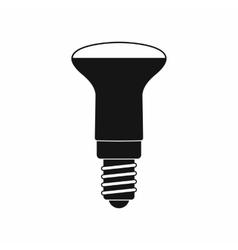 LED bulb icon simple style vector image