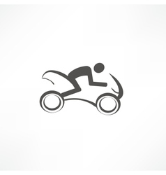 motorcyclist icon vector image