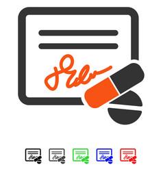 Receipt flat icon vector