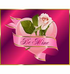 rosebud with banner vector image