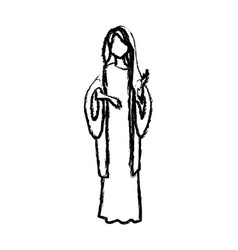 Saint virgin mary religion catholic image vector