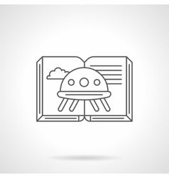 Science fiction book flat line icon vector