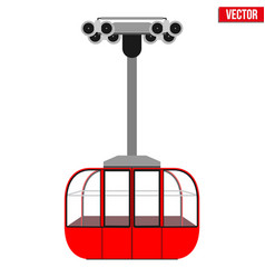 Ski lift gondola vector